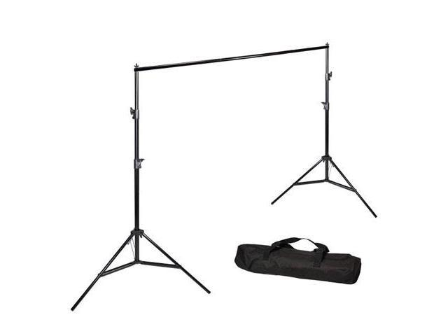 LoadStone Studio 10 ft. Wide Muslin Backdrop Support Stand System Kit with Carry Bag