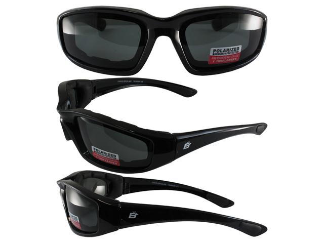 Birdz Oriole Motorcycle Glasses with Polarized Smoke Shatterproof Anti-Fog Polycarbonate Lenses and Wind Blocking Foam