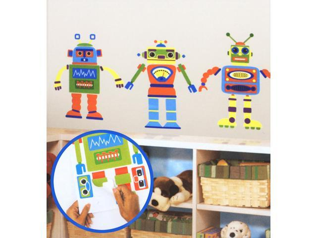 Build Your Own Robot - Peel and Stick Appliques - vinyl