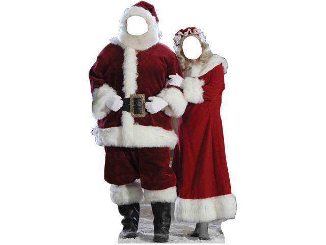 Santa And Mrs. Claus Standin - Red
