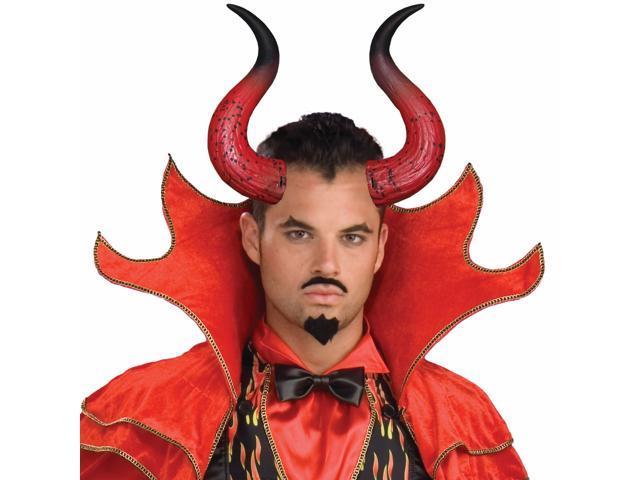 Mega Devil Adult Horns - Black/red - One-size