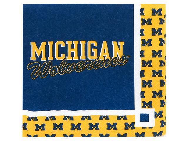 Michigan Wolverines - Beverage Napkins - paper