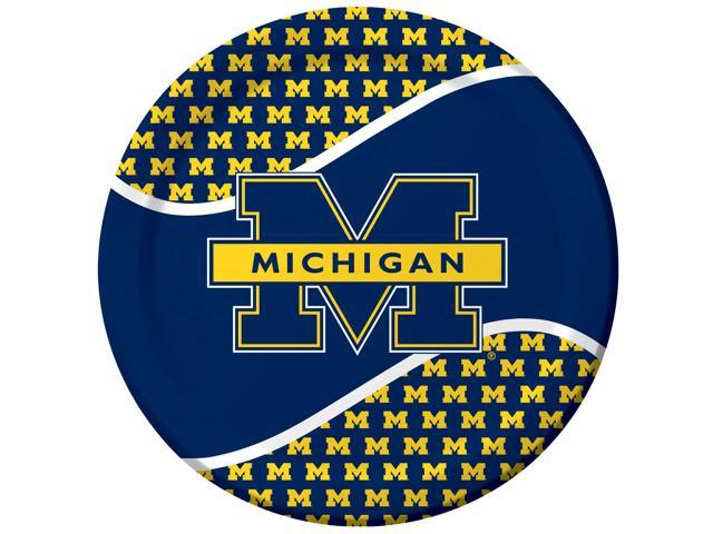 Michigan Wolverines - Dinner Plates - paper