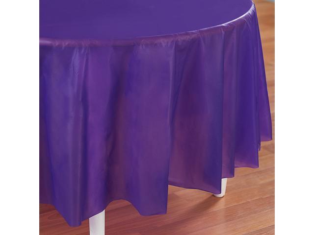 Perfect Purple (Purple) Round Tablecover - plastic