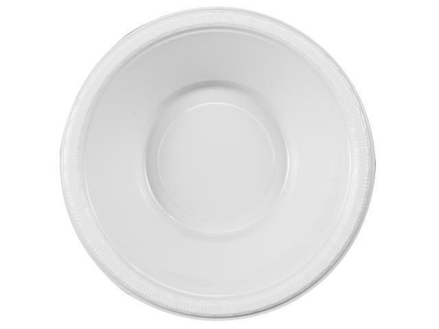 Bright White (White) Plastic Bowls - plastic