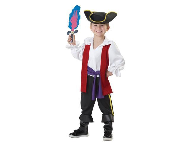 The Wiggles Captain Feathersword Toddler Costume - Black/white - 4-6