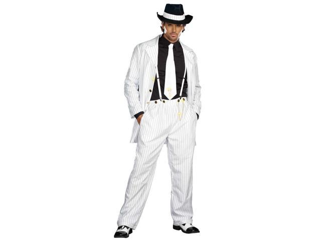 Zoot Suit Riot Adult Costume - Black & White - X-large - 100% Polyester