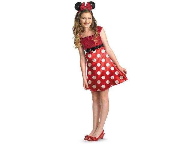 Disney Mickey Mouse Clubhouse Red Minnie Mouse Child / Tween Costume - Red - 10/12