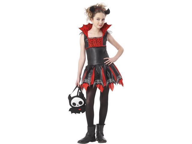 Skelanimals Diego The Bat Child Costume - Black/red - Large (10-12)