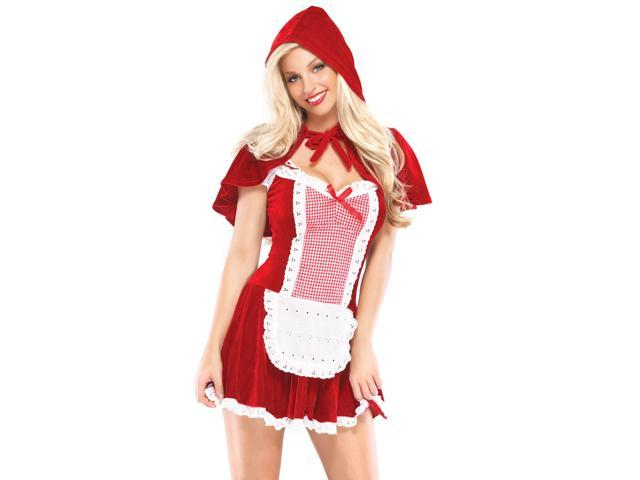 Sexy Red Riding Hood Adult Costume - Red And White - Medium/large