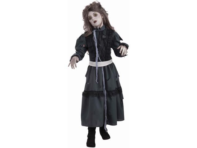 Zombie Girl Child Costume - Polyester - Medium