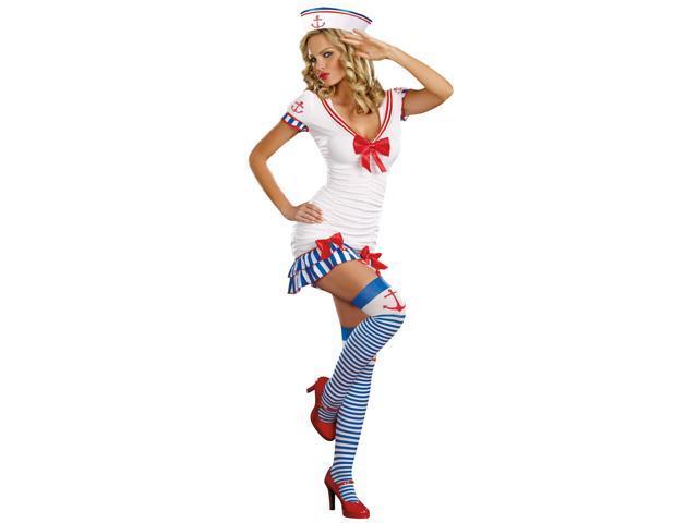 Sailor Pin-up Adult Costume - Red/white/blue - Medium