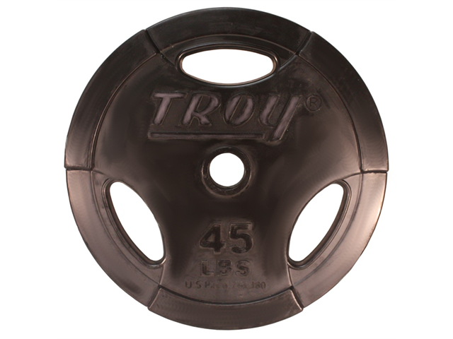 Troy Machined Interlocking Rubber Encased 45lb Grip Plate