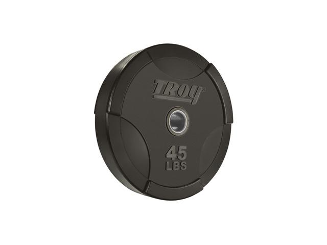 Troy Solid Olympic Interlocking Rubber  45lb Plate