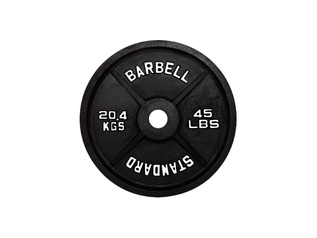 USA Sports Black Olympic 35lb Plate