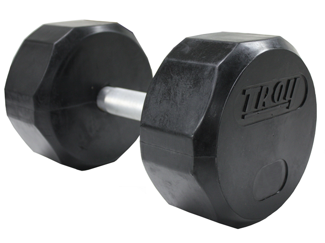 Troy 100lb Individual 12-Sided Rubber Encased Dumbbell
