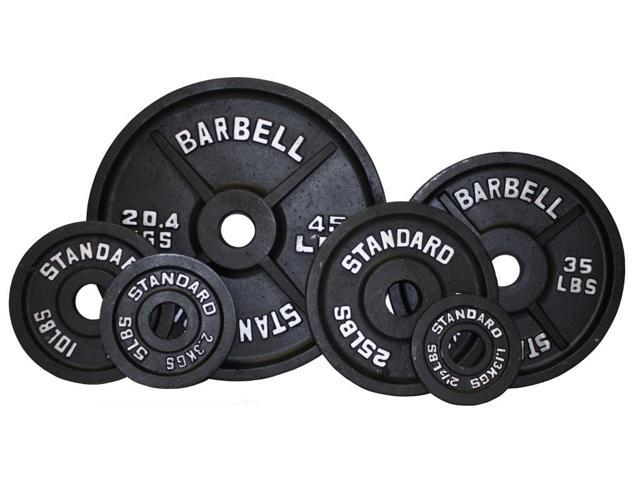 USA Sports Black Olympic 255lb Plate Set