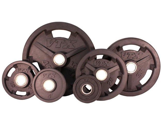 VTX 355lb Rubber Encased Olympic Plate Set