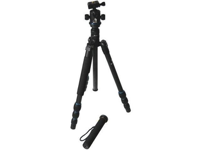 CowboyStudio BK-586 Trans-Functional Travel Angle Carbon Fiber Tripod with Monopod for DSLR Camera Nikon Canon Sony Olympus