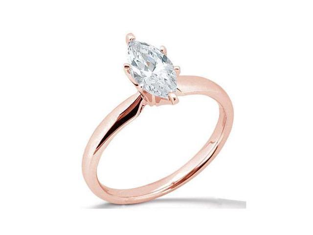 pink gold rose marquise 1 51 carat diamond solitaire engagement ring Newegg