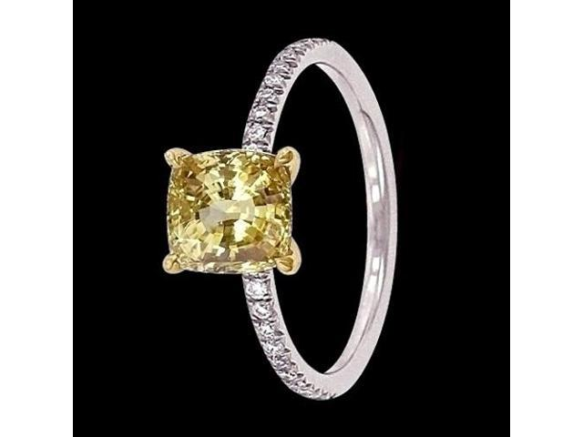 3 50 ct canary diamonds engagement ring cushion cut Newegg
