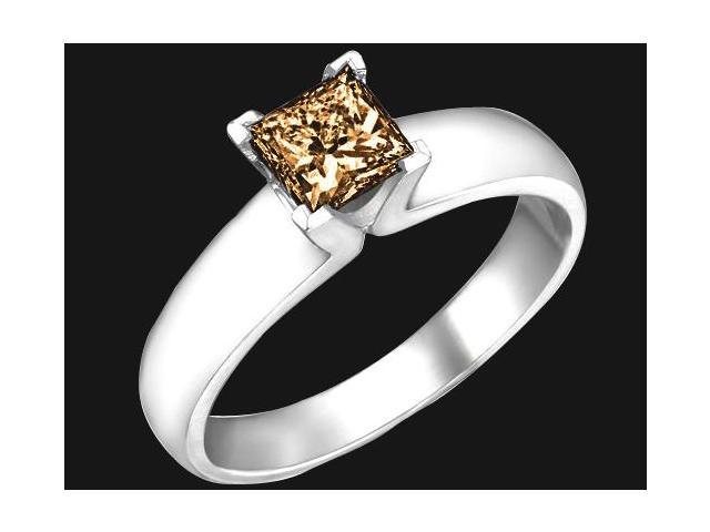 1 carat brown princess cut diamond solitaire ring new Newegg