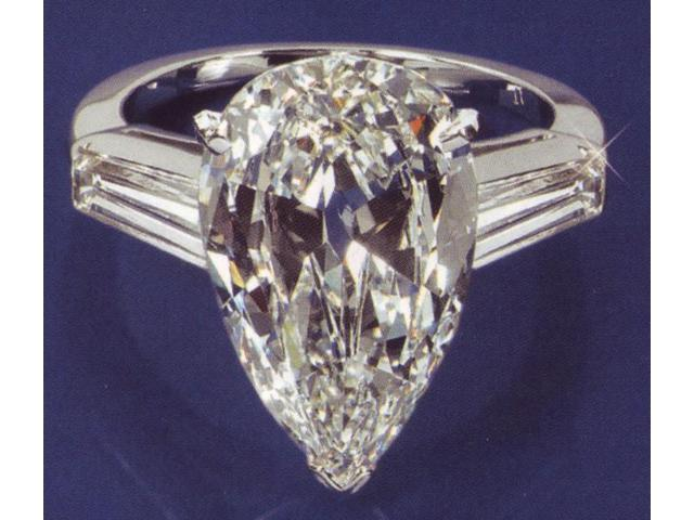 2 01 carat pear diamond engagement ring 3 stone ring Newegg