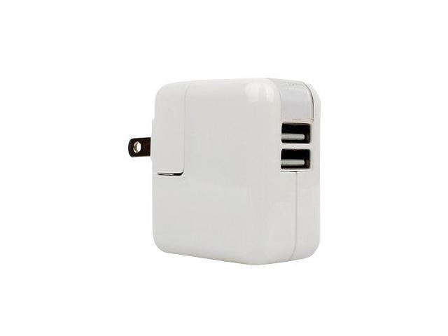 APPLE 2.1Amph and 1Amph Dual PORT Rapid USB WALL Charger  with 2 x 3-Ft iPhone 5 Cable White