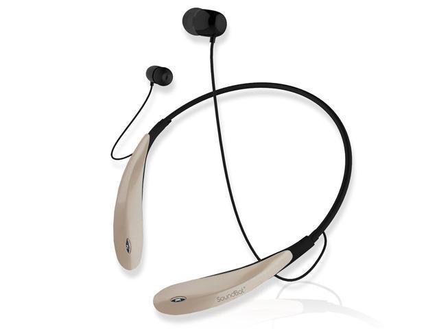 soundbot sb732 behind around the neck bluetooth 4 0 stereo headphone champagne. Black Bedroom Furniture Sets. Home Design Ideas