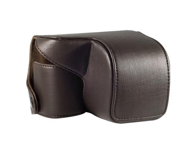 Leather Camera Case Bag Faux PU for Sony NEX-6 Brown LF195K [Camera]