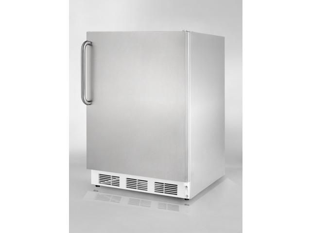 Summit  AL650CSS:  ADA  compliant  refrigerator-freezer  in  complete  stainless  steel  exterior,  for  built-in  or  f