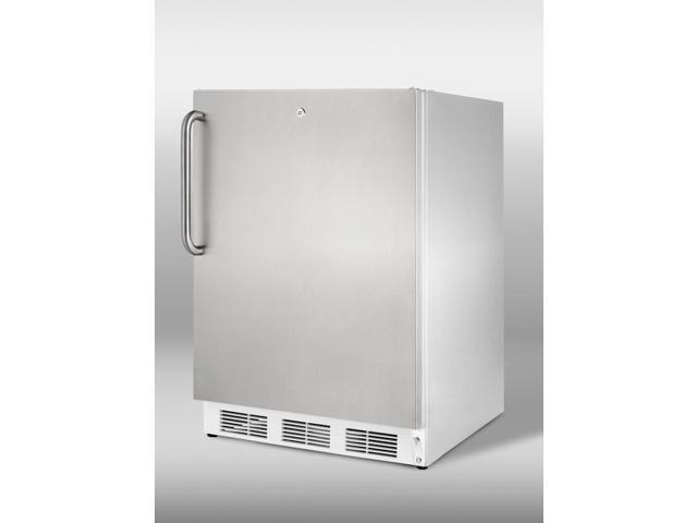 Summit  ALB751LCSS:  ADA  compliant  built-in  undercounter  refrigerator  with  automatic  defrost,  front  lock,  and