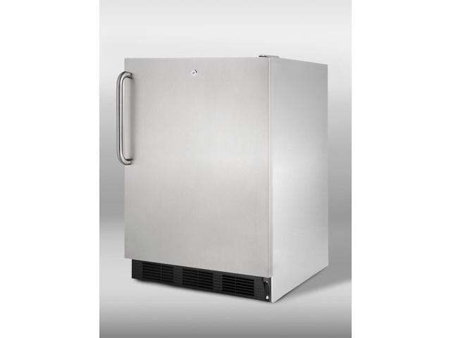 Summit  AL752LBLCSS:  ADA  compliant  built-in  undercounter  refrigerator  with  automatic  defrost,  front  lock,  and
