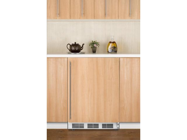 Summit  ALB751IF:  ADA  compliant  built-in  undercounter  all-refrigerator  with  automatic  defrost  and  white  exter