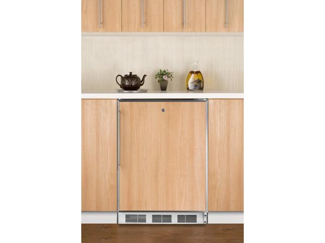 Summit  AL750LBIFR:  ADA  compliant  built-in  undercounter  refrigerator  with  automatic  defrost,  white  exterior,