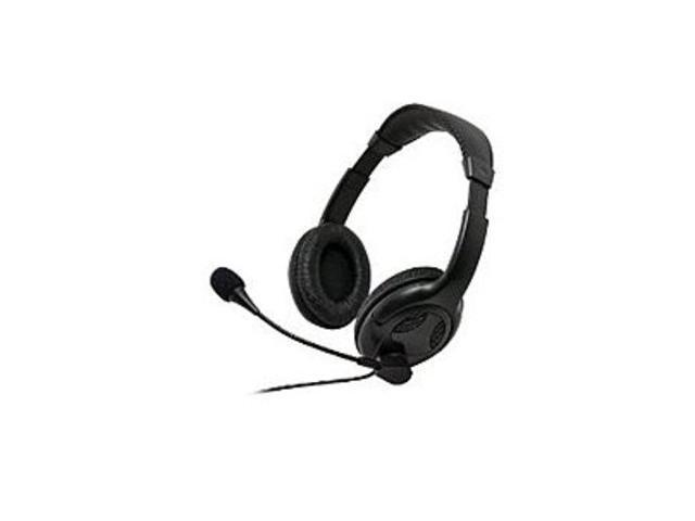 Gear Head AU3700S Universal Multimedia Binaural Wired Headset - Ear-cup - Over-the-head - Ear-cup