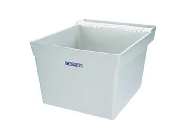 Great Mustee 17W Durastone Utility Wall Sink   White   Newegg.com