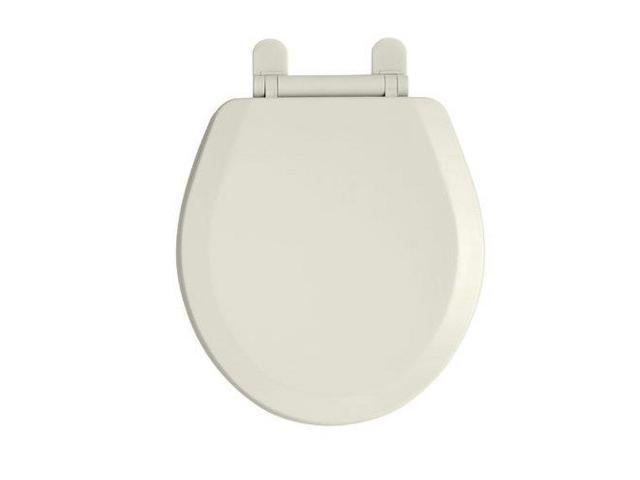 American Standard 5282.011.222 Everclean Surface Round Front Toilet Seat, Linen