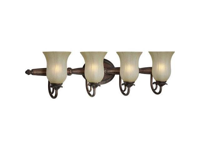Forte Lighting 4 Light Bathroom Vanity Light in Black Cherry - 1253631-Newegg.com