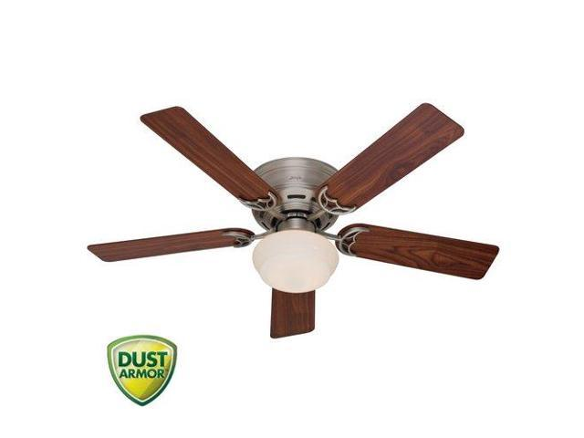 53074 52 in. Low Profile III Plus Antique Pewter Ceiling Fan with Light
