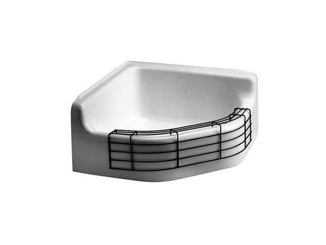 Corner Mop Sink : AMERICAN STANDARD 7741000.020 Corner Mop Sink with Drop Front, 28 In L ...
