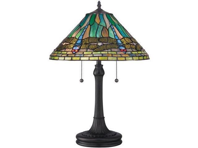 Quoizel 2 Light King Tiffany Table Lamp in Vintage Bronze - TF1508TVB