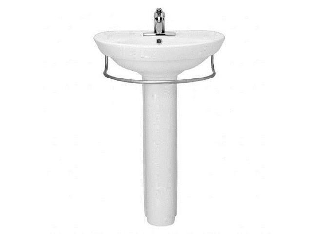 ... Pedestal Sink Basin with Center Faucet Hole and without Towel Bar