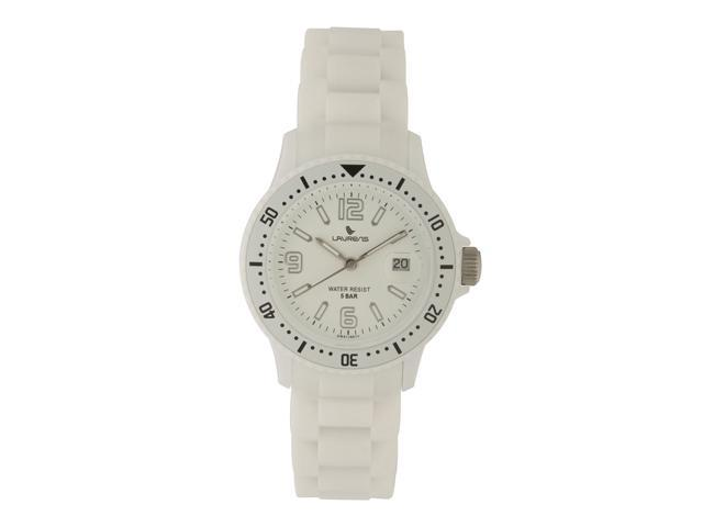 Laurens Unisex GW41J901Y Rotating Bezel White Rubber Watch