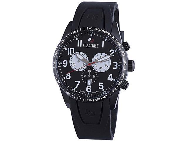 Calibre Recruit SC-4R4-13-007 Men's Black Dial Stainless Steel Chronograph Watch