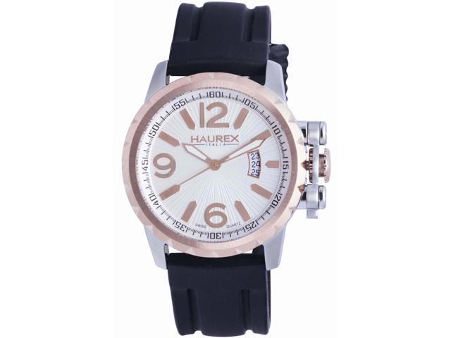 Haurex Italy Men's Aeron Silver Dial Watch