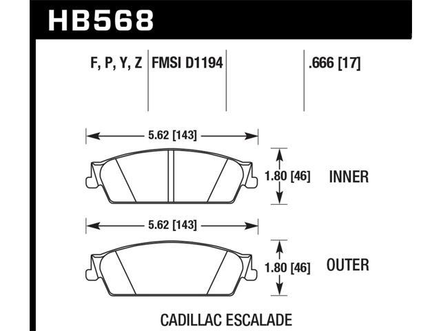 Hawk Performance HB568P.666 Disc Brake Pad
