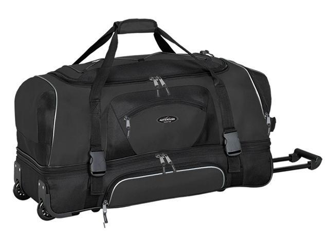 "Travelers Adventurer Polo & Racquet Club 30"" Travel Rolling Duffel"