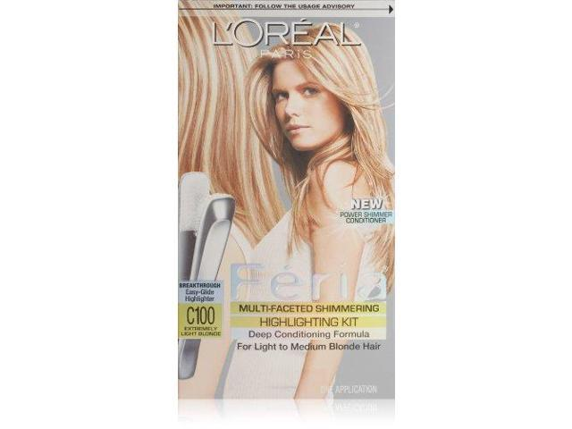 L'Oreal Paris Feria Multi-Faceted Shimmering Highlighting Kit, Star Lights/Extremely Light Blonde C100