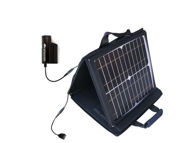 SunVolt MAX Solar Charger compatible with the Contour HD / GPS / Plus / 2 / ROAM2 and one other device; charge from sun at wall